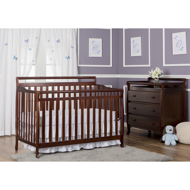 Amazon.com : Dream On Me Liberty 5 In 1 Convertible Crib, Espresso :  Convertible Cribs : Baby