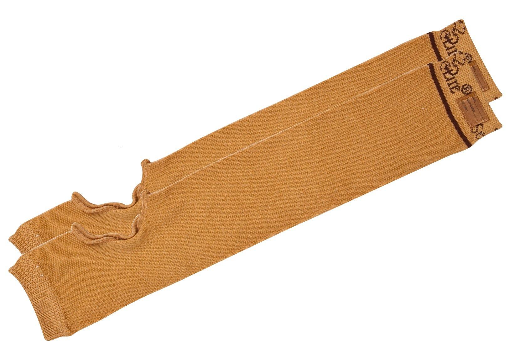 SecureSleeves (1 Pair) Geri Skin Protection Arm Sleeves, Large, Brown - 16.5''-17'' x 3.5''