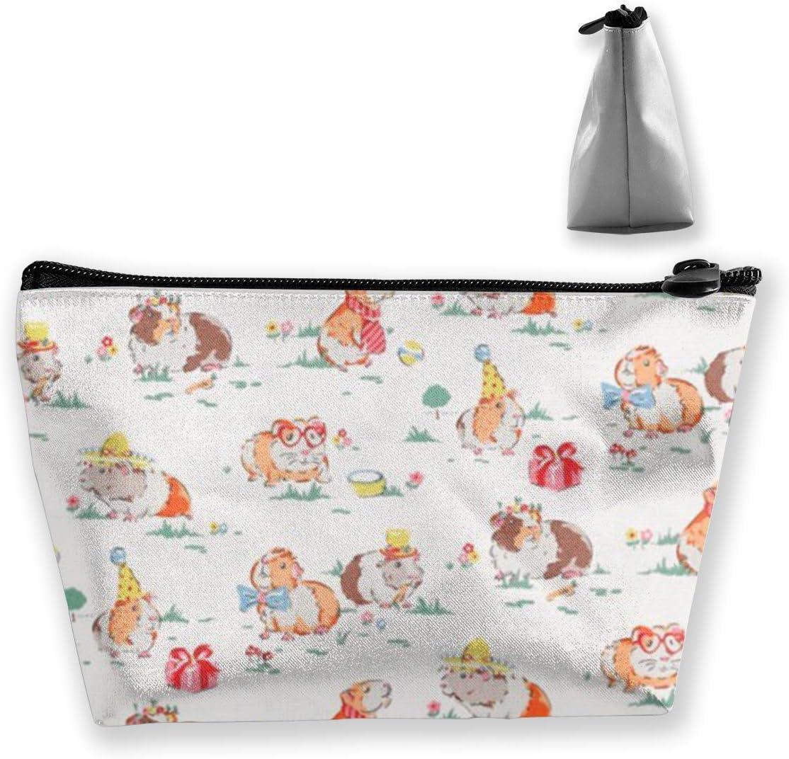 gro/ßes Fassungsverm/ögen tragbar Kosmetiktasche mit Meerschweinchen-Motiv
