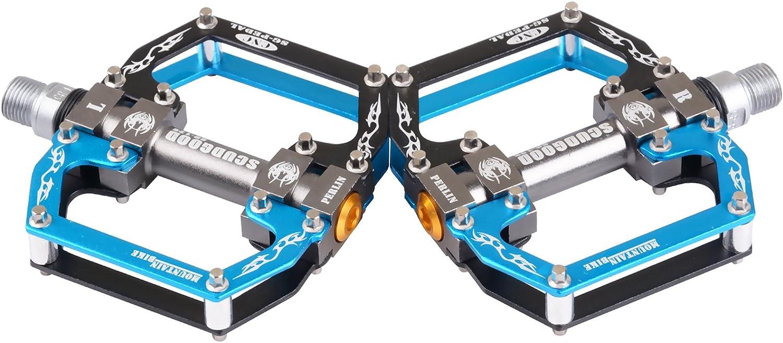 Pedales de Bicicleta Plataforma Plana 9//16 Teniendo de Aluminio para Cycling Ciclismo MTB BMX Bicycle Bicicleta Monta/ña