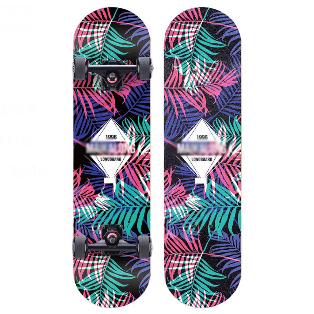 『1年保証』 B07R7GXLX4スケートボードメープルボード大人男の子と女の子ダブルロッカースケートボード初心者ティーンプロ4輪スクーター(フラッシュホイール付き) B07R7GXLX4, あす花明日に届けるお花屋さん:37f73834 --- 4x4.lt