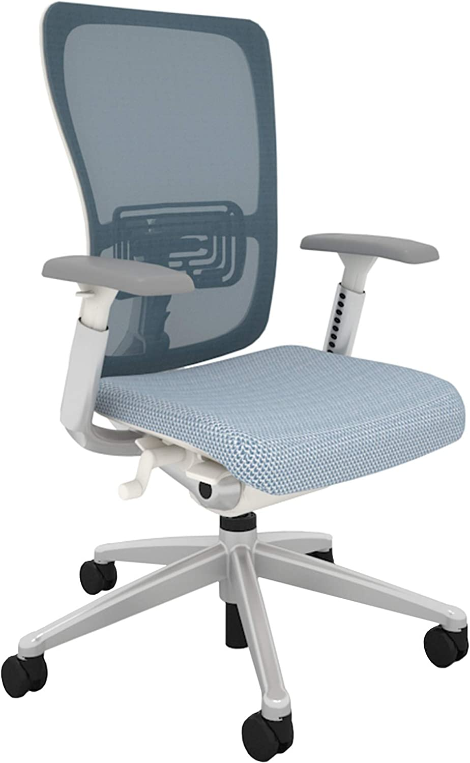 Haworth Zody High Performance Office Chair with Ergonomic Adjustments and Flexible Mesh Back, Blue