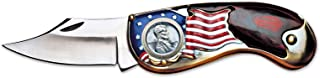 product image for American Flag Coin Pocket Knife with 1943 Lincoln Steel Penny | 3-inch Stainless Steel Blade | Genuine United States Coin | Collectible | Certificate of Authenticity