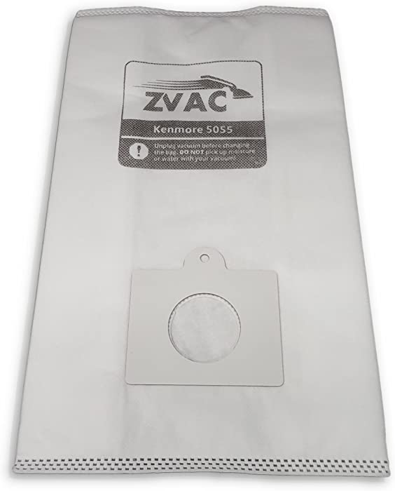 ZVac 18Pk Compatible Vacuum Bags Replacement for Kenmore C/Q Canister Vacuum Bags. Replaces Part# KM48751-12. Fits 50403 20-50410 50410 29430 29435 29459 24975 24981 & 24991