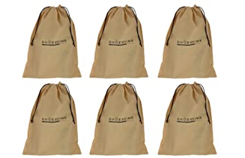Shoeshine India Beige Fabric Shoe Bags 6