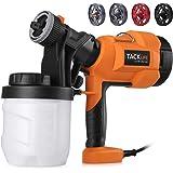 Paint Sprayer, High Power HVLP Home Electric Spray Gun,Adjustable Valve Knob, Quick Refill Lid,4 Nozzle Sizes-TACKLIFE…