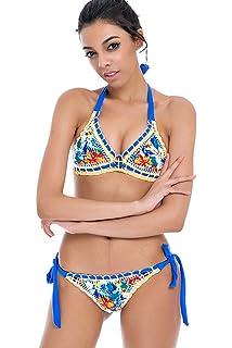 76fe60ed4f9 Sherry007 Sexy Handmade Crochet Bikini Swimsuit Triangle Swimwear Bathing  Suit