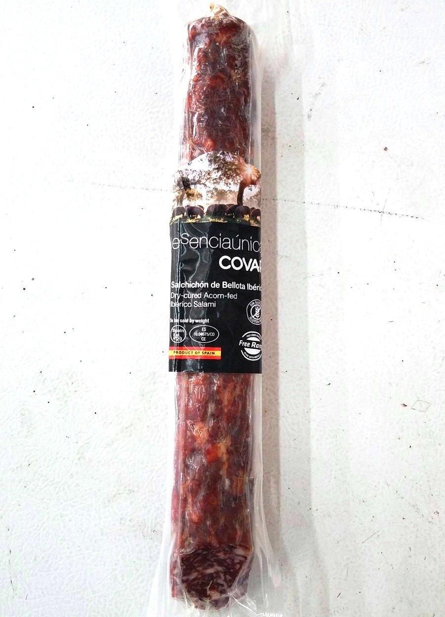 Esencia Unica 100% Pure Iberico de Bellota Acorn Fed Salchichon Salami 1.3 Lbs