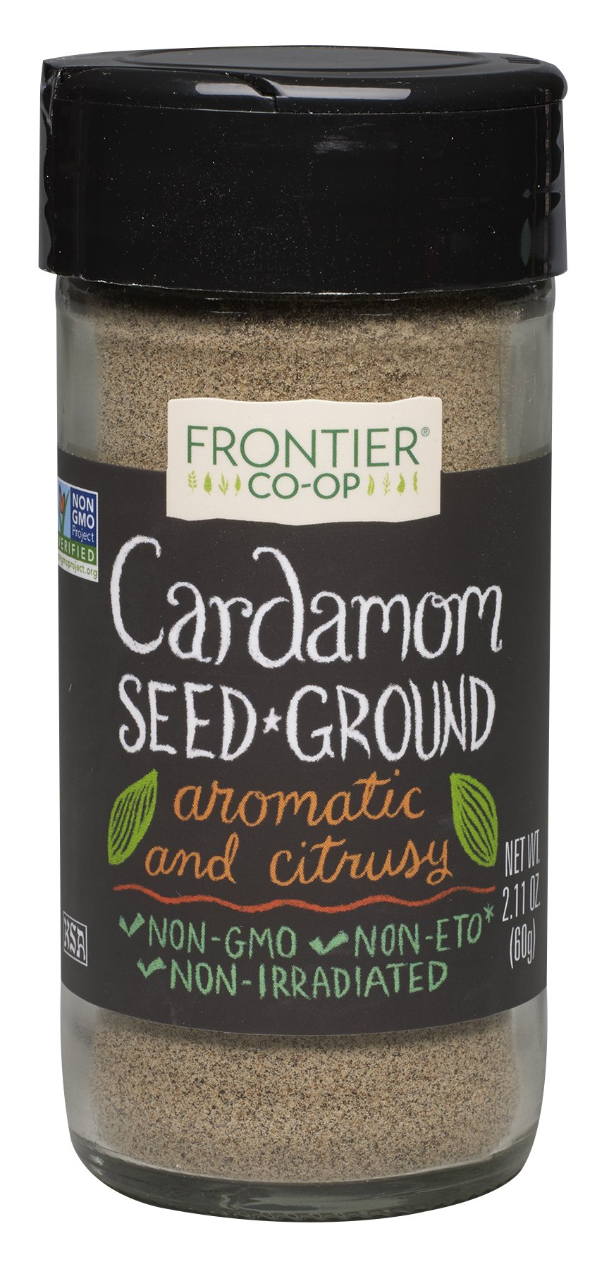 Frontier Culinary Spices Ground Cardamom Seed, 2.11-Ounce Bottles (Pack of 3)