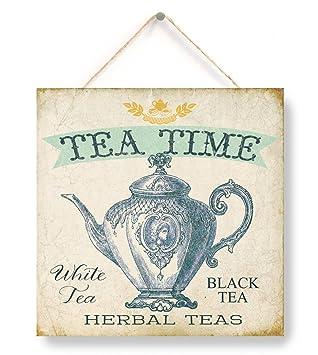 Amazon.com: Hora del té, signos de panadería, panadería de ...
