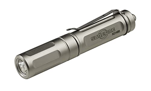 SureFire Titan Plus Ultra-Compact Variable-Output LED Keychain Light, Silver matte