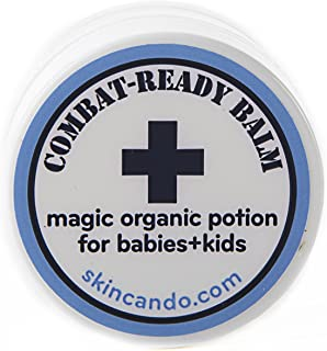 product image for COMBAT READY SKIN CREAM - BALM FOR BABIES - 0.125oz by Skincando – All Natural - Intensive Moisturizer For Babies – Baby Skin Rash Cream - Organic Ingredients – Apricot Kernel Oil – Grapefruit Seed Extract – Black tea Moisturizer
