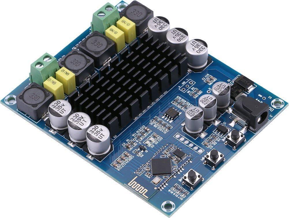 Bluetooth Amplifier Mini Hifi Stereo 2.1 TPA3116D2 2X50W+100W Audio Amplifier Class D Digital Power Amplifier Bluetooth 5.0 AMP with AUX Bluetooth Input