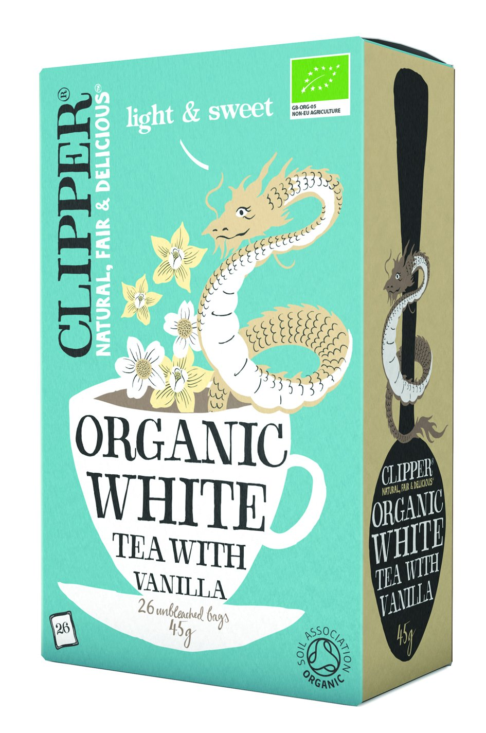 Clipper Organic White Tea with Vanilla (26) - Pack of 6