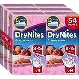Huggies DryNites Lot de 6x9sous-vêtements de nuit absorbants pour fille 8-15ans