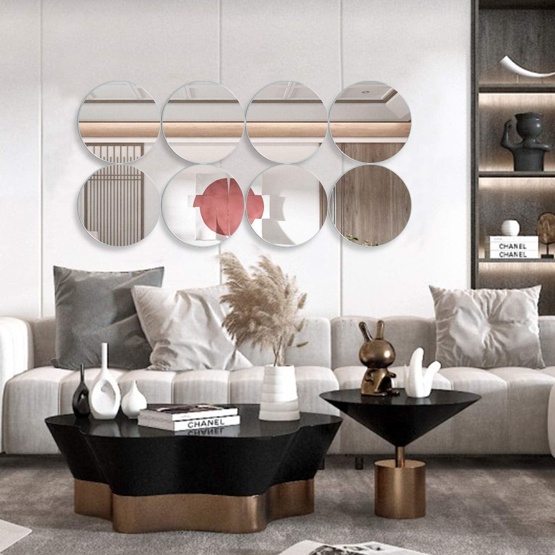 Amazon Com Miruo Vdus Yj25wk 8 Wall Decor Mirror 10 Silver Home Kitchen