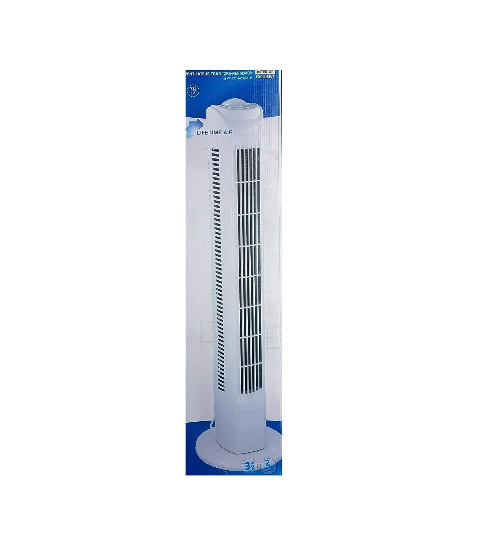 45 W Interior S/äulenventilator Turmventilator 78cm weiss 3 Stufen Standventilator Oszillierender Boden Ventilator