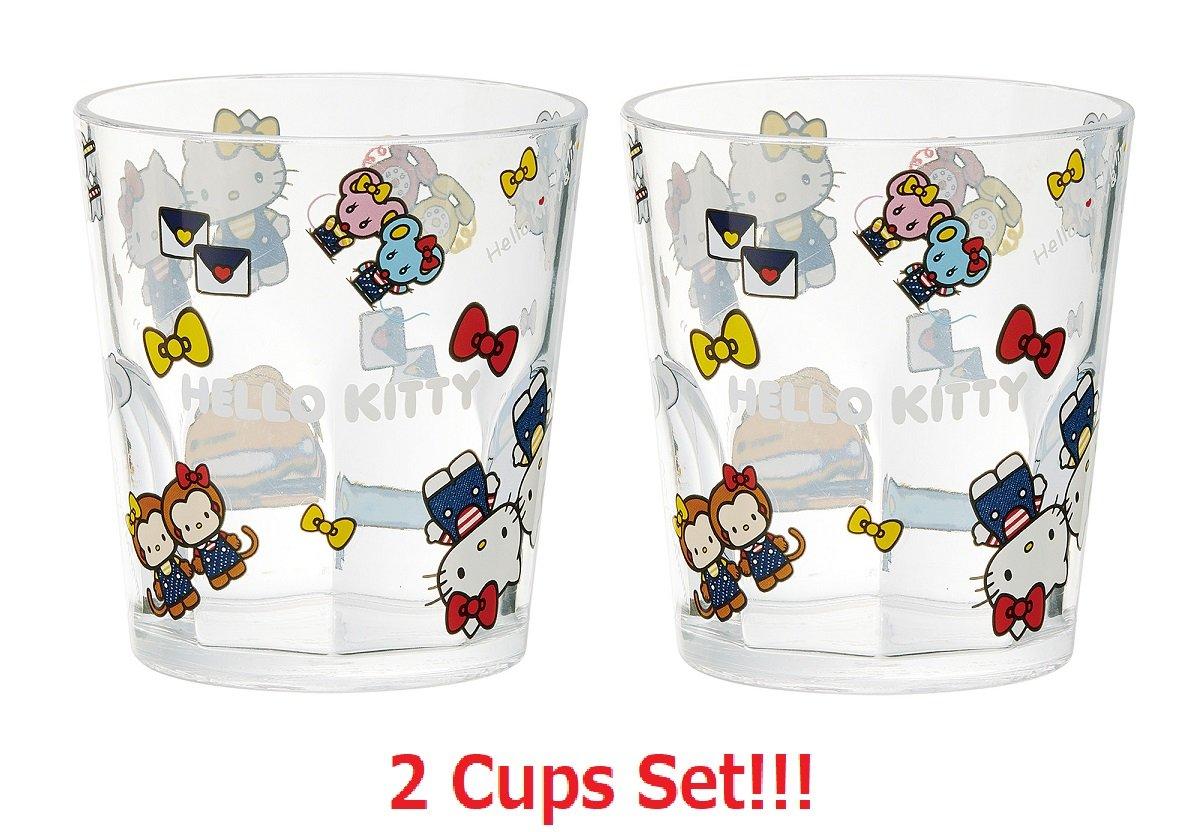 独創的 [ 280 2-cupsセット]スケーターSanrio Hello Kitty「デニム」アクリルカップksa4 [ 280 B0799DY78G ml B0799DY78G, 大野市:170d623c --- a0267596.xsph.ru