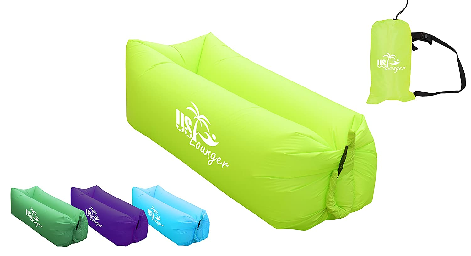 Beach US Lounger Fast Inflatable Portable Outdoor or Indoor Wind Bed Lounger Backyard Air Sleeping Sofa Couch Air Bag Sofa Lazy Bed for Camping Park