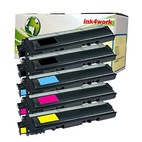 5 Pack ink4work Compatible Brother TN221 TN225 TN-221 TN-225 Toner Cartridge Combo For Brother HL-3140CW HL-3150CDN HL-3170CDW MFC-9130CW MFC-9330CDW MFC-9340CDW Toner Cartridges at amazon