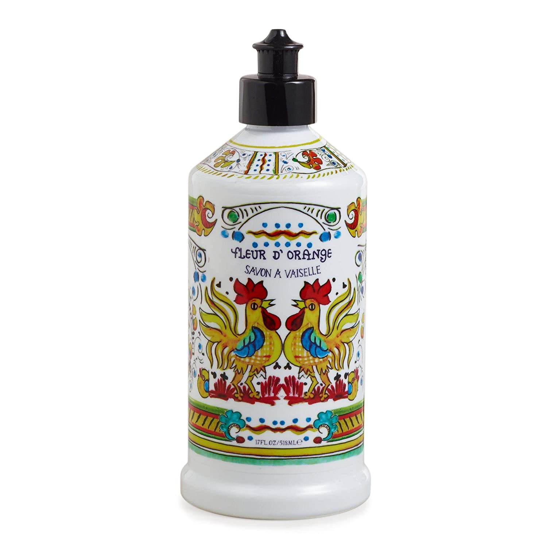 Deruta Orange Blossom Dish Soap Dispenser - Liquid Hand Soap Bottle | Reusable Bottle| 17 Fl. Oz