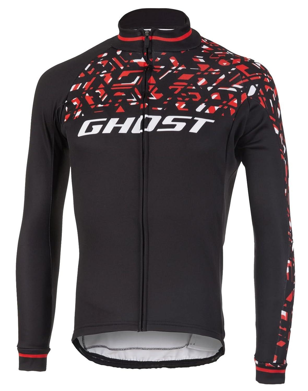 Ghost Factory Racing Jersey Long Night schwarz Riot ROT Star Weiß