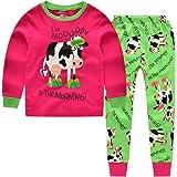 "CNBABY ""Dairy Cow"" Toddler Girls 2 Piece Long Sleeve Pajamas 100% Cotton"