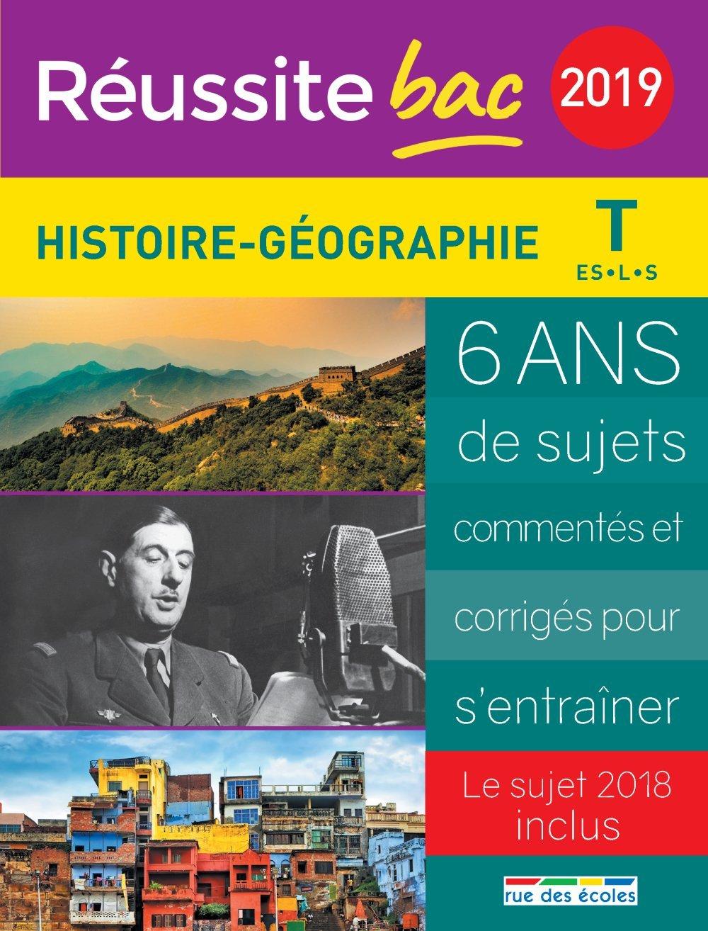 Histoire-Géographie Tle ES, L, S (French) Paperback – August 28, 2018