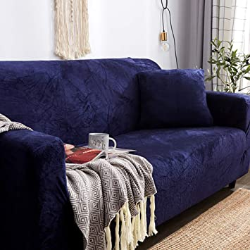 Amazon.com: D&LE Plush Thick Sofa Covers, 1 2 3 4 Seater ...