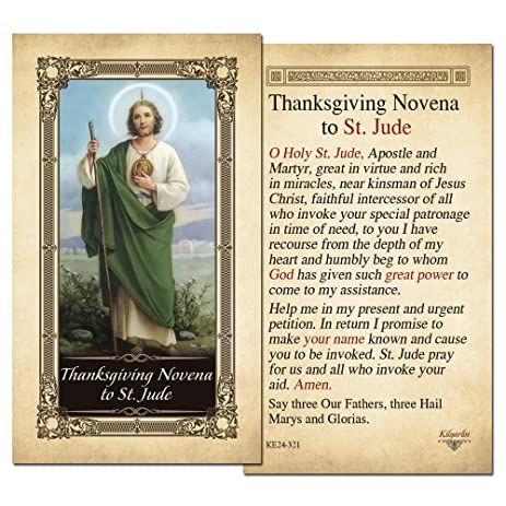 Amazon thanksgiving novena to st jude laminated holy card thanksgiving novena to st jude laminated holy card pack of 10 thecheapjerseys Gallery