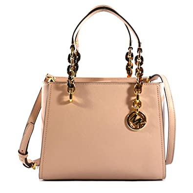6c0e8e89a1b8 Amazon.com  Michael Kors Sofia Saffiano Leather Satchel Crossbody Bag Purse Tote  Handbag