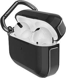 Raptic Trek Series, Apple AirPods Pro Case (Formerly X-Doria Trek) - Anodized Aluminum, TPU, and Polycarbonate Protective Case for Apple AirPods Pro, (Black)