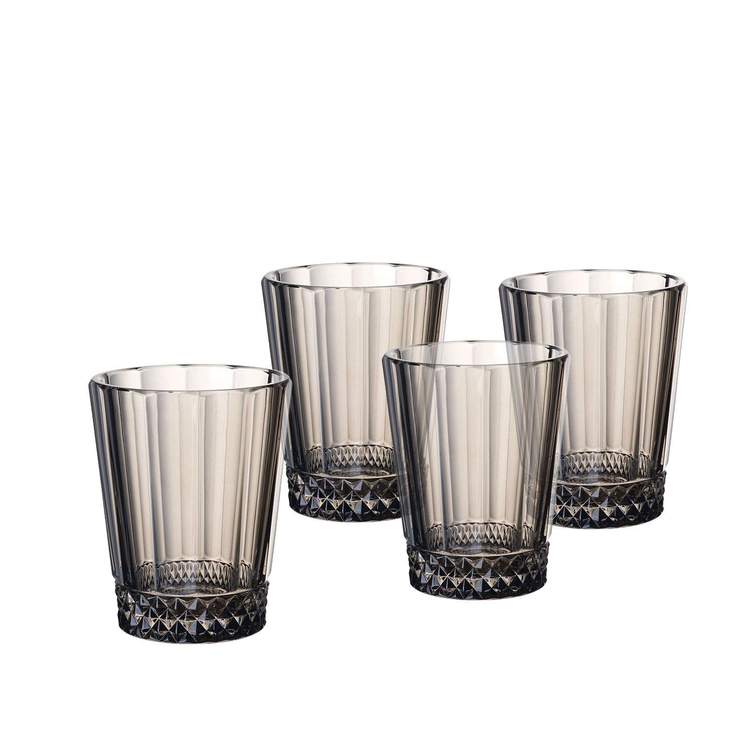 Villeroy & Boch 1137908140 Opera Smoke Water/Juice Glass : Set of 4, 4.25 in/10.5 oz, Clear/Gray by Villeroy & Boch