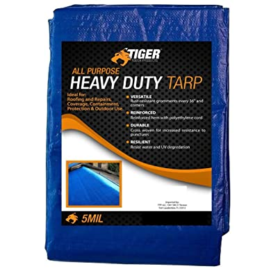 Tiger Tough All Purpose Heavy Duty Tarp True 5 Mil Thick Durability (9 x 12 Feet) [5Bkhe0911082]