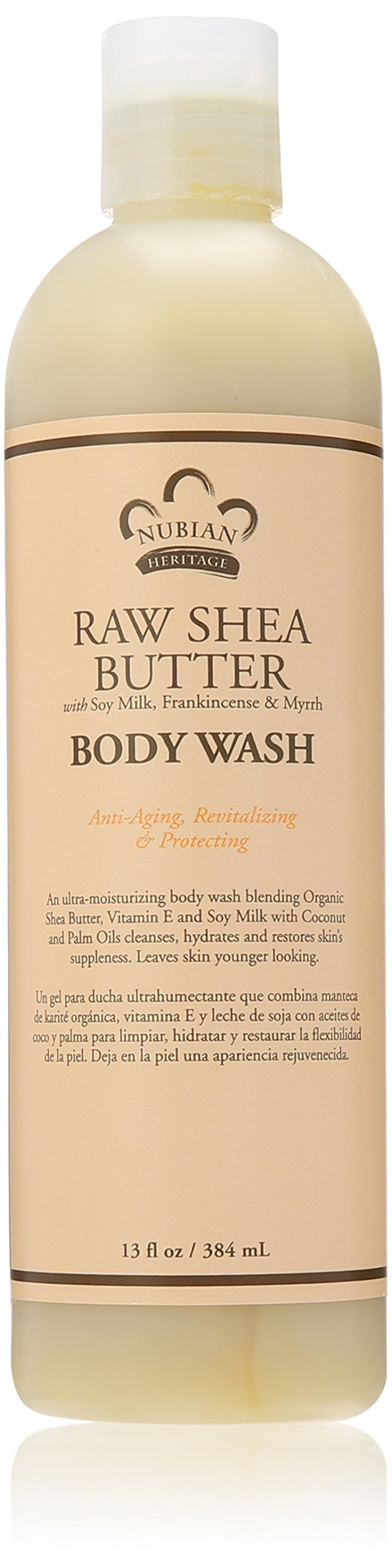 Nubian Heritage Body Wash, Raw Shea and Myrr, 13 Fluid Ounce