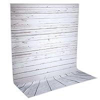 Neewer 5x 10piedi/1.5x 3meters fondale in legno, grigio chiaro 100% poliestere (riprese per studio fotografico sfondo solo)