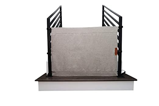 The Stair Barrier Baby and Pet Gate: No-Drill Portable Banister to Banister Baby Gates & Travel Bag - Safety Gates for Kids or Dogs - Fabric Baby Gate for Stairs with Banisters, New 2019