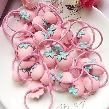 Amazon.com   24Pieces Cute Cartoon Baby Girls Kids Children Little Princess  Ball Hair Tie Bands Ropes Ponytail Holder Elastics ac24f1372b8