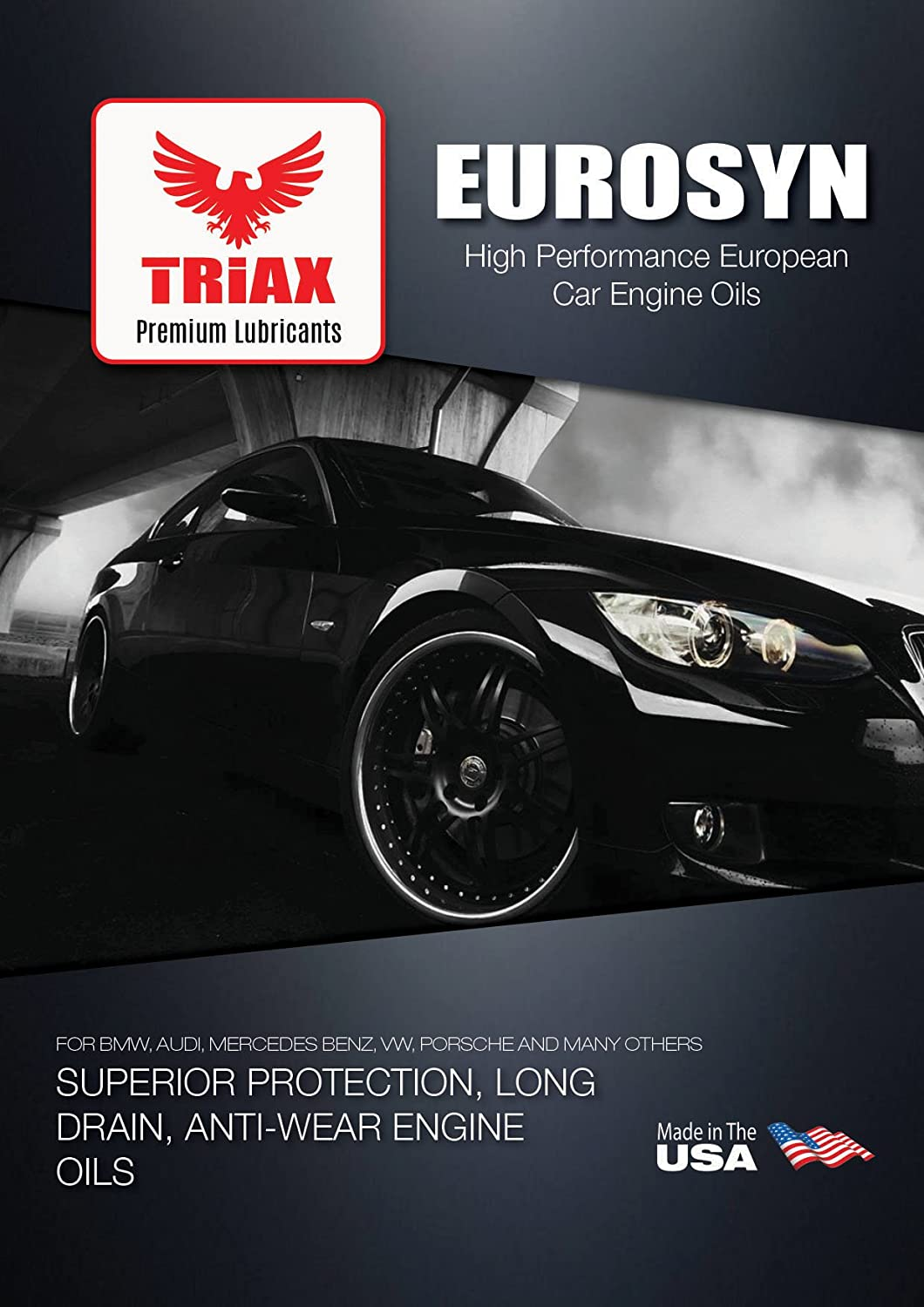 Triax Euro Lx 5w 40 Full Synthetic Enhanced Performance Mercedes Benz Lubricants European Car Engine Oil Compatible With Bmw Ll 01 2295 Audi Vw 50200