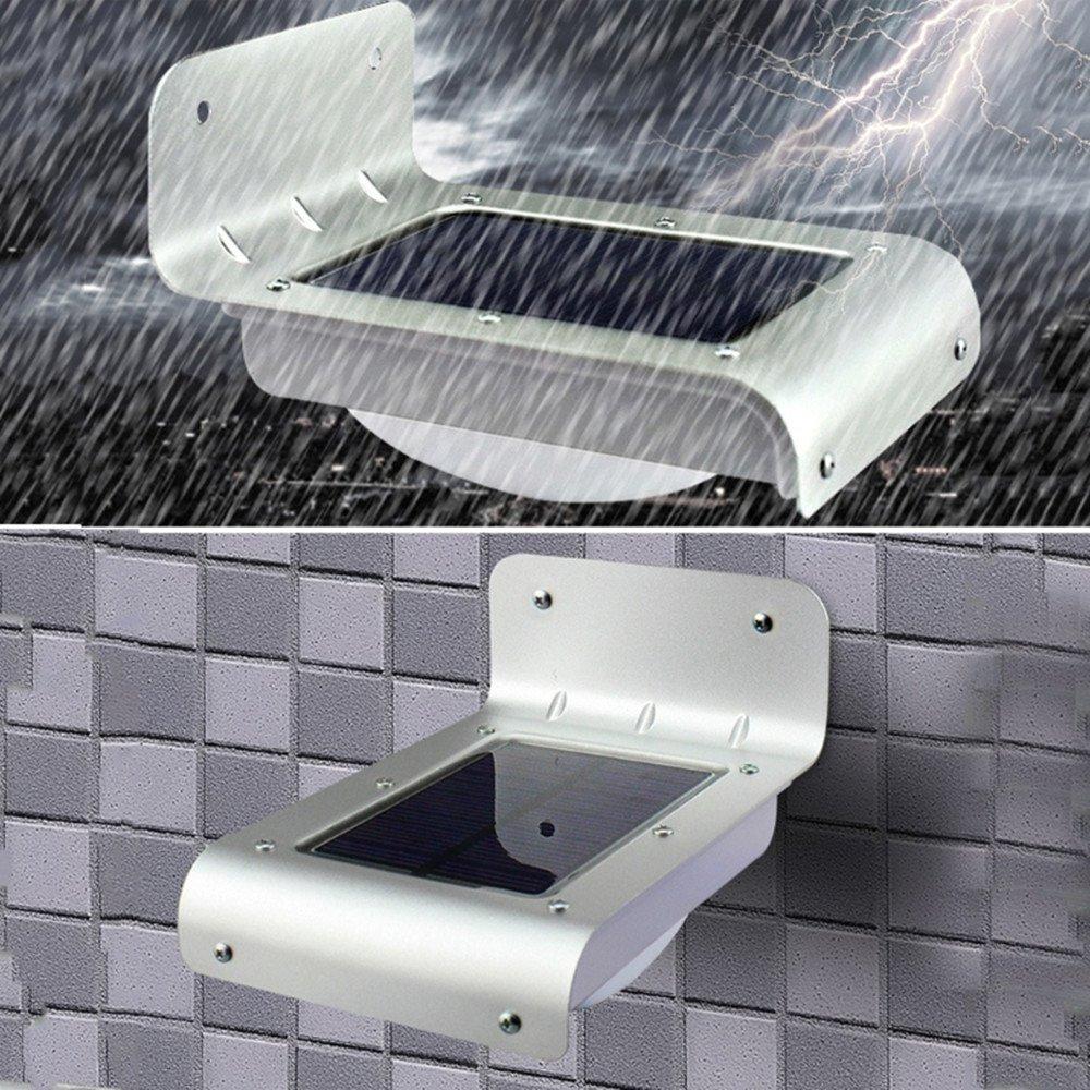 elecfan LED Solar Powered Motion Sensor Wall Light, Waterproof Outdoor Lights Garden Lamp Security Lamp