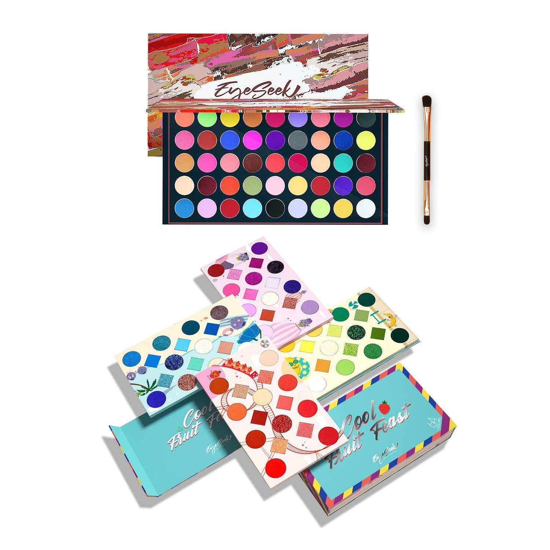 Eyeseek 45 Colors High Pigmented Matte Eyeshadow Makeup Palette With 64 Colors Rainbow Eyeshadow Pallet