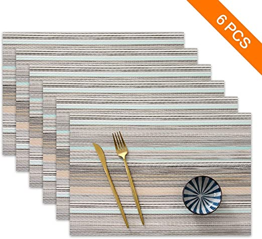 Sayopin Set of 6 Placemats for Dining Table