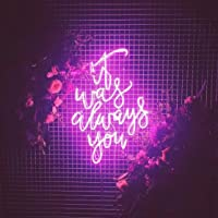 It Was Always You Real Glass Neon Sign For Bedroom Garage Bar Man Cave Room Home Decor Personalised Handmade Artwork Visual Art Dimmable Wall Lighting Includes Dimmer