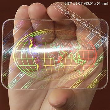 25 Visitenkarten Sicherheit Hologramm Overlay Aufkleber Mit