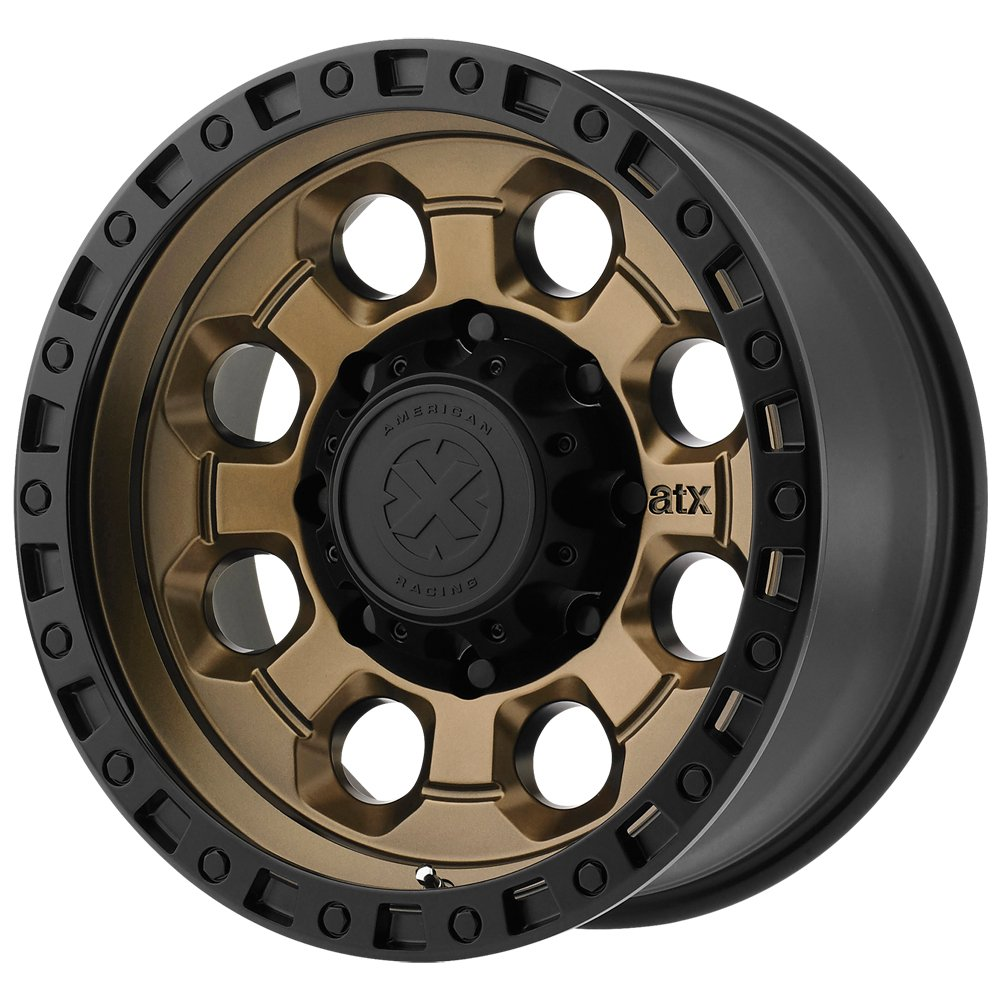 ATX SERIES AX201 Matte Bronze With Black Lip Wheel with Brushed and Chromium 15 x 10. inches //5 x 83 mm, -44 mm Offset hexavalent compounds