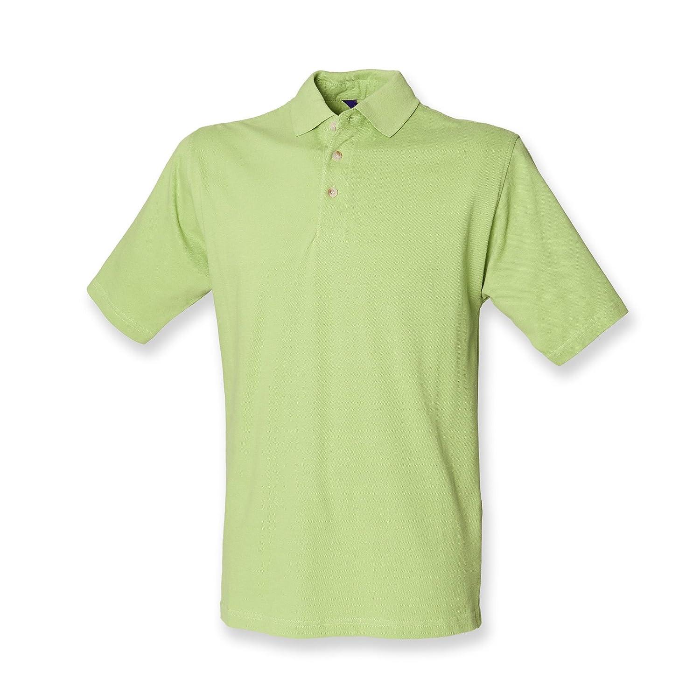 Henbury – Polo con cuello alto verde verde extra-large: Amazon.es ...