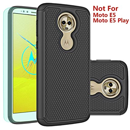 Moto E5 Plus Case,Moto E5 Supra Case with HD Screen Protector Huness Durable Armor and Resilient Shock Absorption Case Cover for Motorola Moto E5 ...