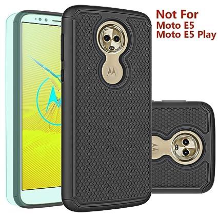 Moto E5 Plus Case,Moto E5 Supra Case with HD Screen Protector Huness Durable Armor and Resilient Shock Absorption Case Cover for Motorola Moto E5 ...