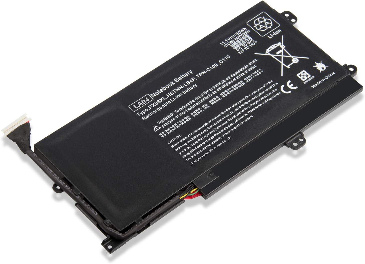 Spare PX03XL 715050-001 714762-1C1 TPN-C109 TPN-C110 TPN-C111 Battery for HP HP Envy Touchsmart 14 Ultrabook sleekbook HP Envy M6-K