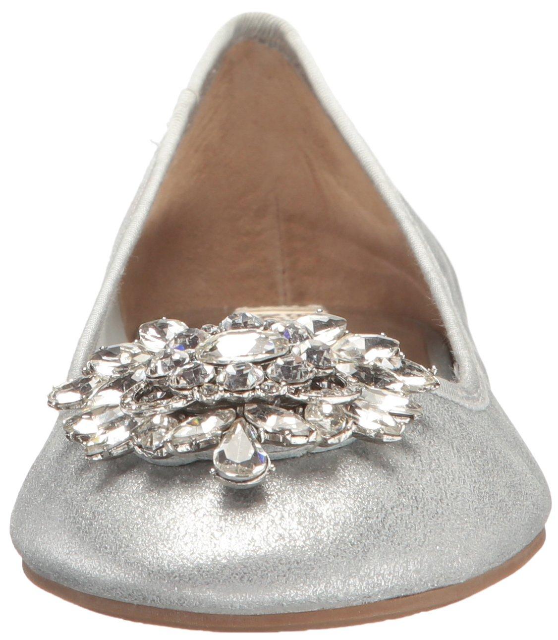 Badgley Mischka Women's Bianca Ballet Flat B01IEVFKCY 7 B(M) US|Silver